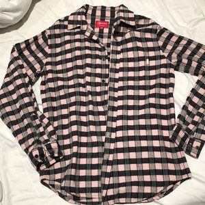 Authentic Supreme NWOT small pink flannel